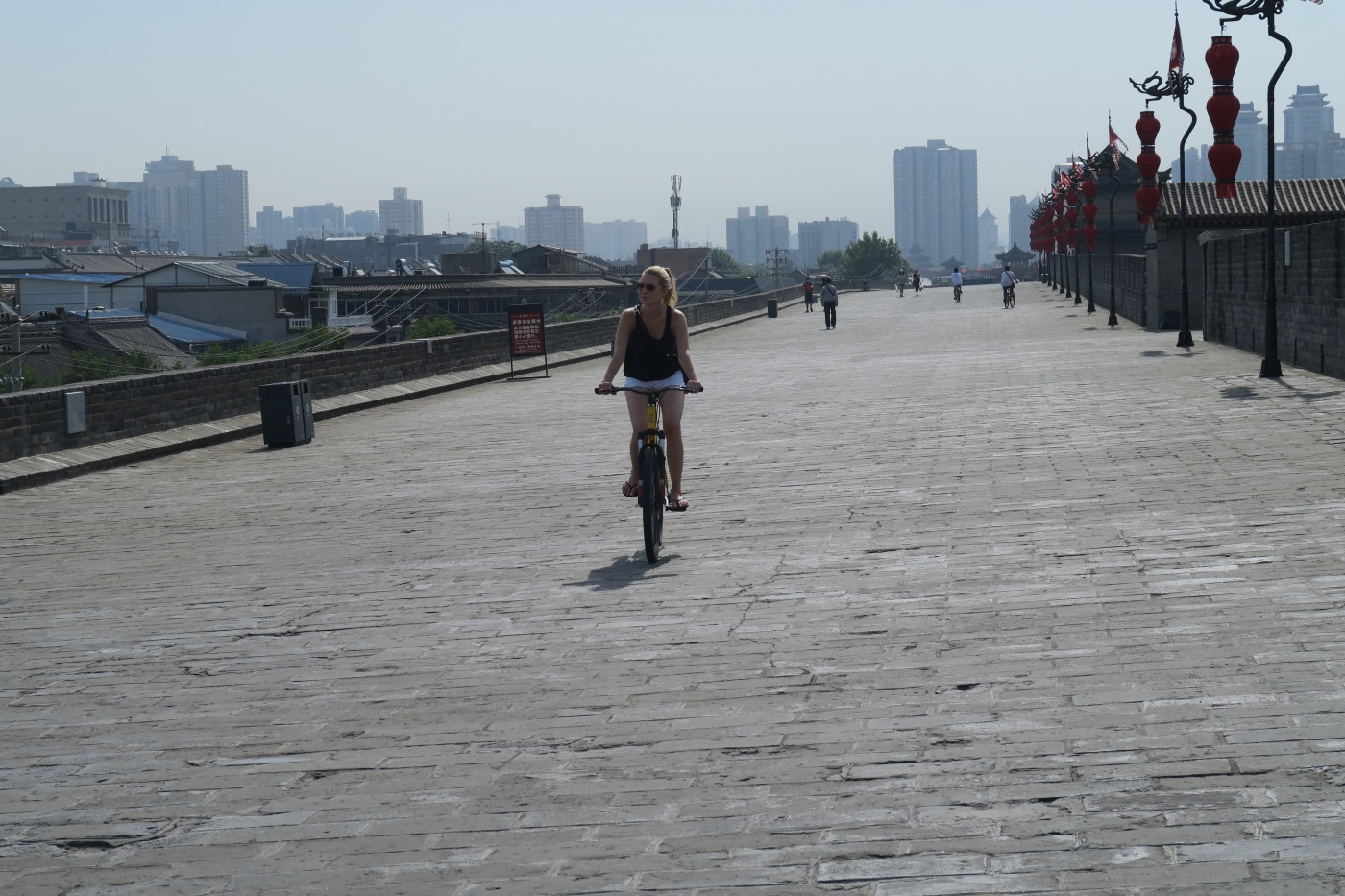 Biking on Xi'an city wall