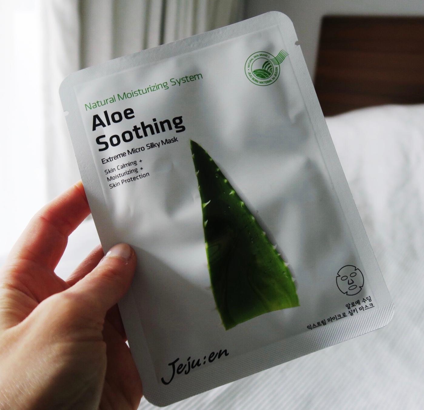 Jejuen Aloe Soothing Sheet Mask