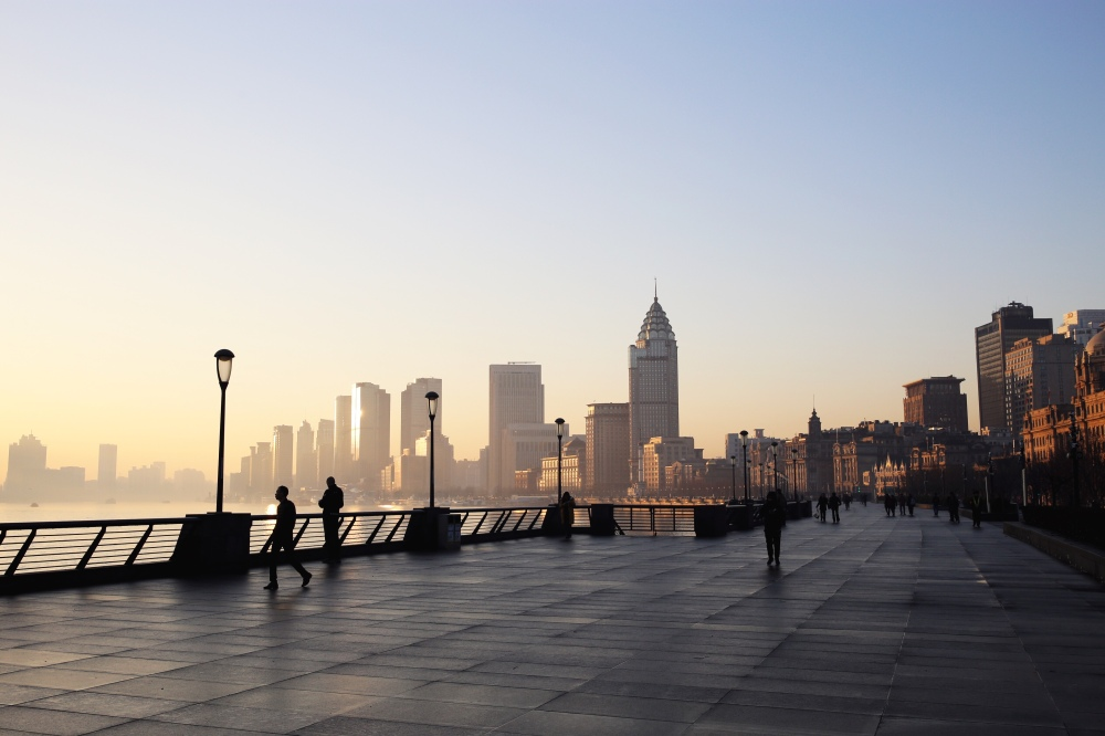 Shanghai sunrise the bund